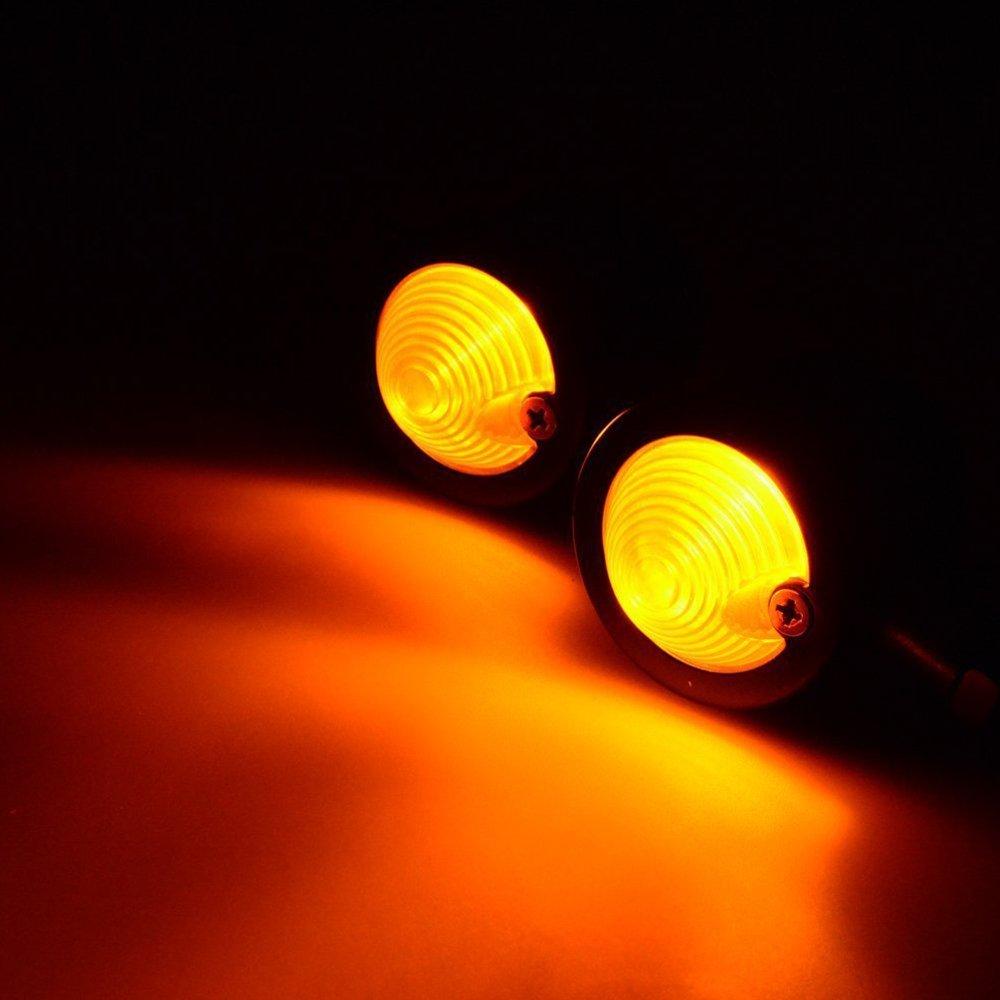 eclear 2/x Vintage umbauen clignotants de moto universelle noir//ambre clignotants Bullet Indicateur signal Lampe Lumi/ère pour Harley Chopper Bobber Cruiser Custom
