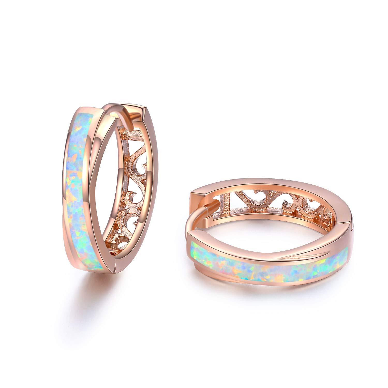 19e1881d410db Rose Gold Hoop Earrings Sterling Silver