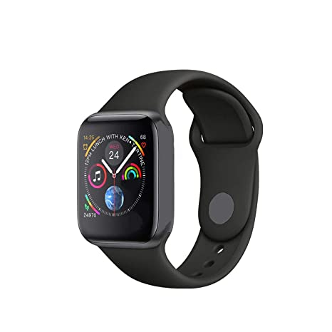 Smart Watch Men Heart Rate Smart Watch for Apple iOS,Iwo 8 Black