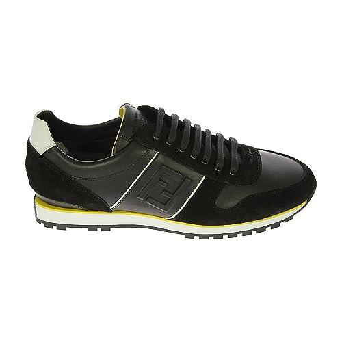 Fendi Amazon E Uomo 7e0749h5pf0e7c Scarpe Sneakers Pelle Borse it Nero q6rqX ac26427aed5