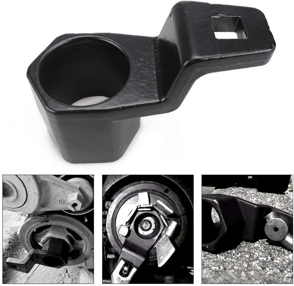 muge racing 50mm Crankshaft Crank Pulley Wrench Holder Tool Crank Bolt Socket Removal Holding Spanner kit for Honda and Acura Engines
