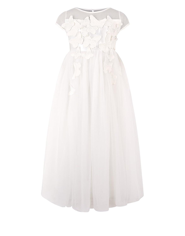 80675c4f3d8 Amazon.com  Alivedre Satin Chiffon Flower Girl Dress Girl Dress for Wedding  Party  Clothing