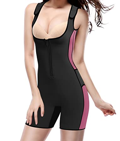 Amazon.com: Sudoración Sauna Shapewear Workout Slimming Full ...
