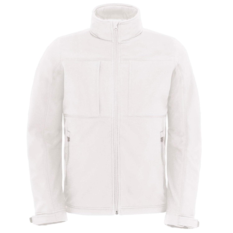 B&C Herren Softshell-Jacke mit Kapuze, Fleece-Innenfutter, atmungsaktiv, wasserabweisend, Winddicht