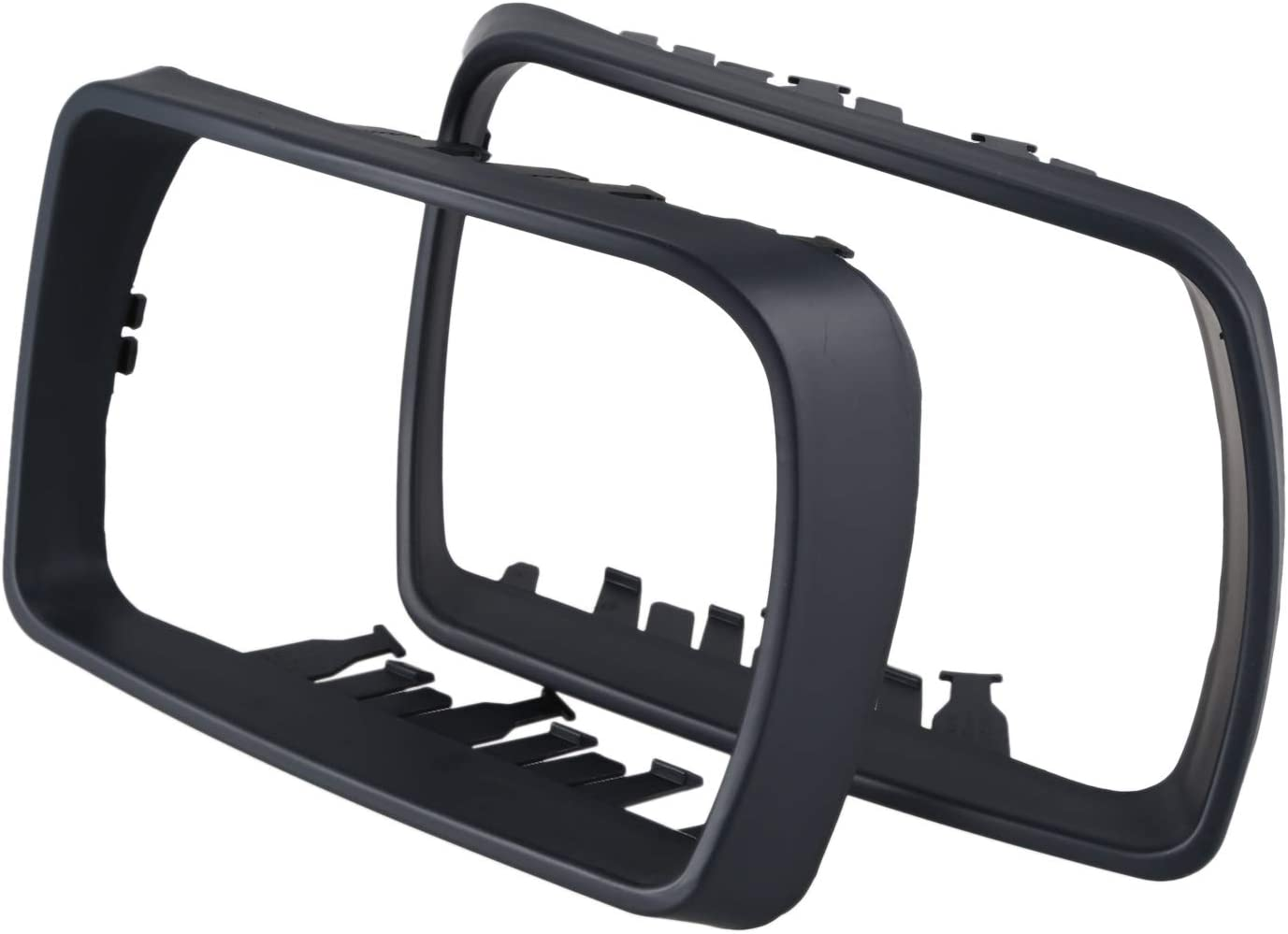 YeBetter Abs Rear View Side Mirror Cover Trim Frame Decoration,Door Wing Mirror Cover For X5 E53 3.0D//3.0I//4.4I 2000-2006 Rearview Mirror Covers