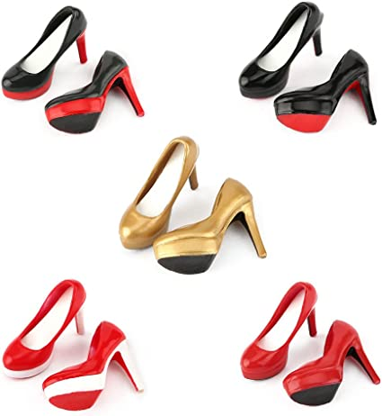 "1//6 Female High Heel Court Shoes for 12/"" Hot Toys Phicen Figure Black"