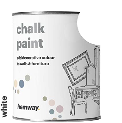 Excellent Hemway Chalk Paint White Matt Finish Wall And Furniture Paint 1L 35Oz Shabby Chic Vintage Chalky 14 Colours Available Download Free Architecture Designs Scobabritishbridgeorg