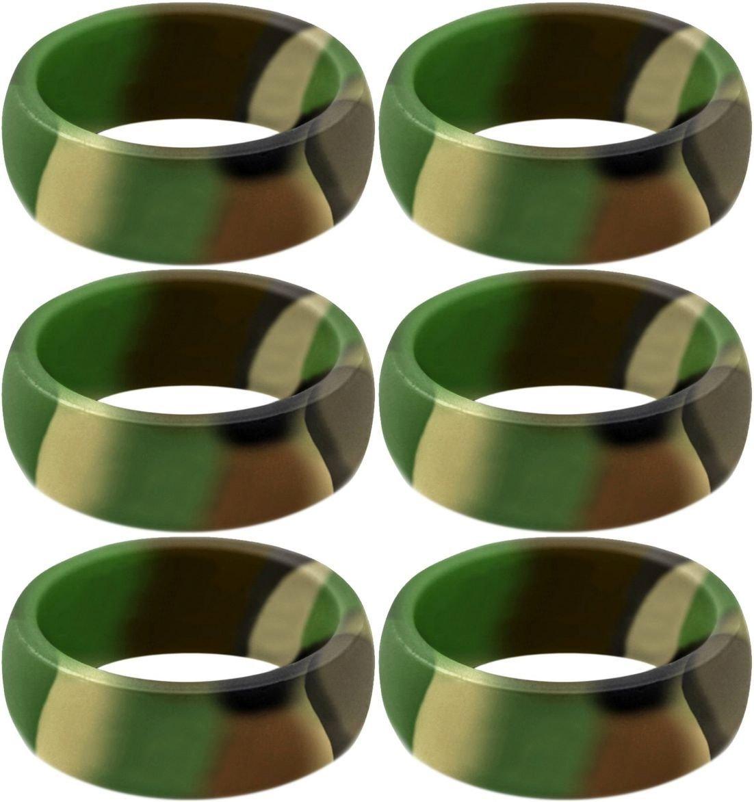 6つの新しい迷彩シリコンリングサイズ11   B079SQSGMF