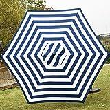 Sunnyglade 7.5' Patio Umbrella Outdoor Table Market Umbrella with Push Button Tilt/Crank, 6 Ribs