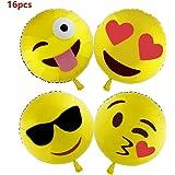 Ballon de baudruche Emoji 16pcs, flintronic Emoji Party Ballons smiley visage Expression Décor pour ête Festival ballons Décoration Mariage