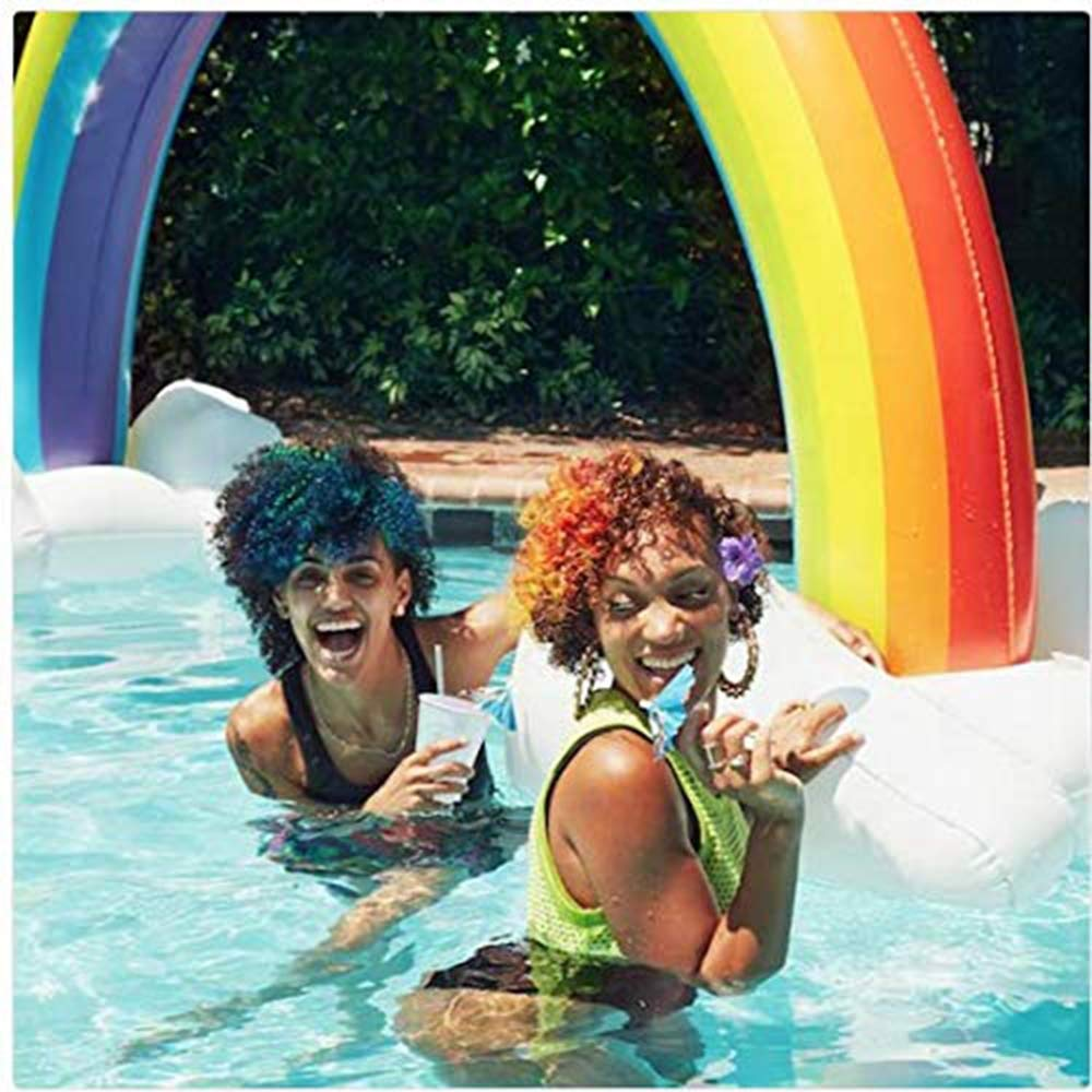 Mitrc Summer Sprinkler Toy, Inflatable Rainbow Arch Sprinkler Sprinkler Inflatable Archway Lawn Beach Outdoor Toys Perfect for Baby Games 200cm by Mitrc (Image #6)