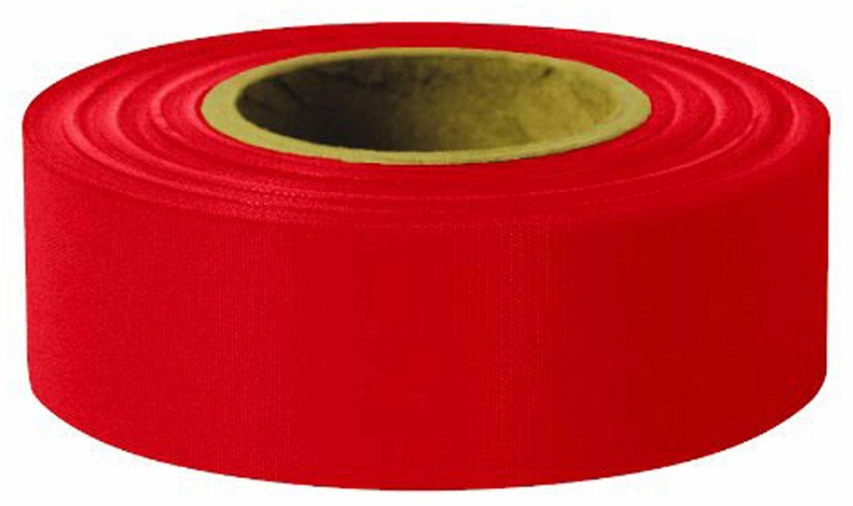x 300/' Glo 2.5 mil Taffeta Grade Flagging Tape Swanson RFTRD300 12 Pk 1-3//16in