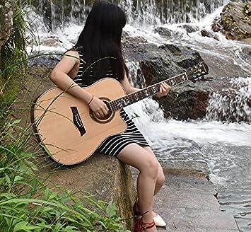GFEI Guitarra electrica de caja, madera, folk, principiante, principiante, la práctica, la introducción, la guitarra de madera: Amazon.es: Instrumentos ...