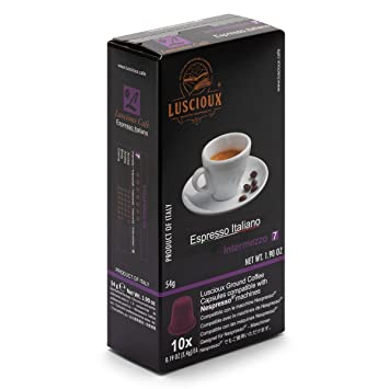 LUSCIOUX Intermezzo - Nespresso Compatible Coffee Capsules | Pack of 10 [Total 100 capsules]