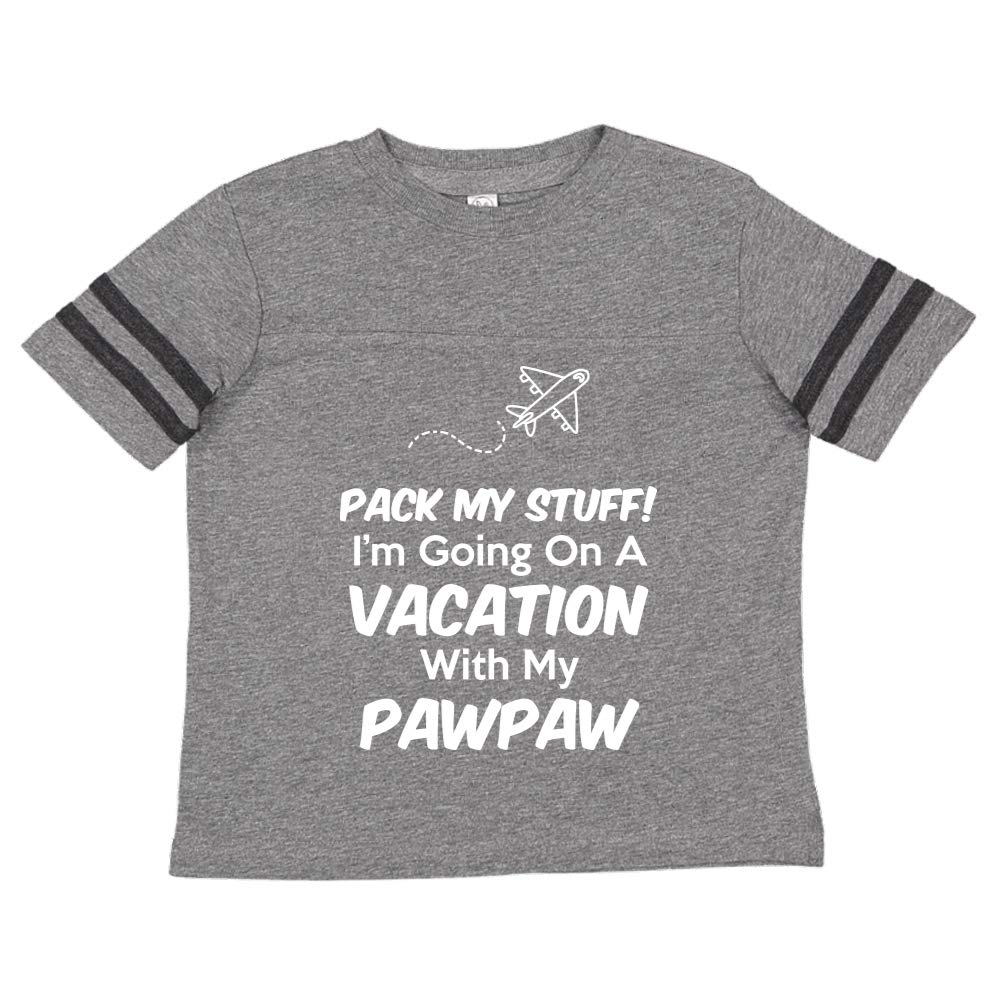 Toddler//Kids Sporty T-Shirt Pack My Stuff Im Going On Vacation with My Pawpaw
