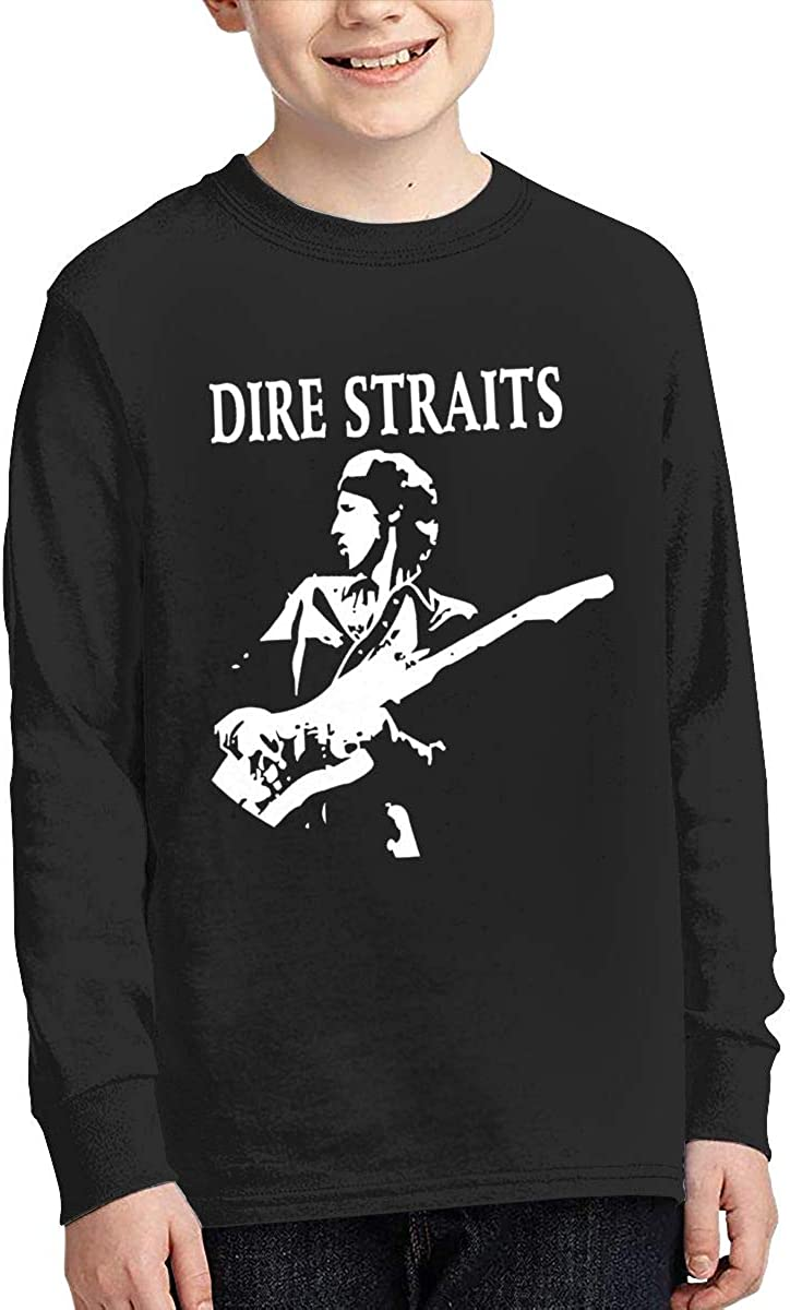 MichaelHazzard Dire Straits Youth Classic Long Sleeve Crewneck Tee T-Shirt for Boys and Girls