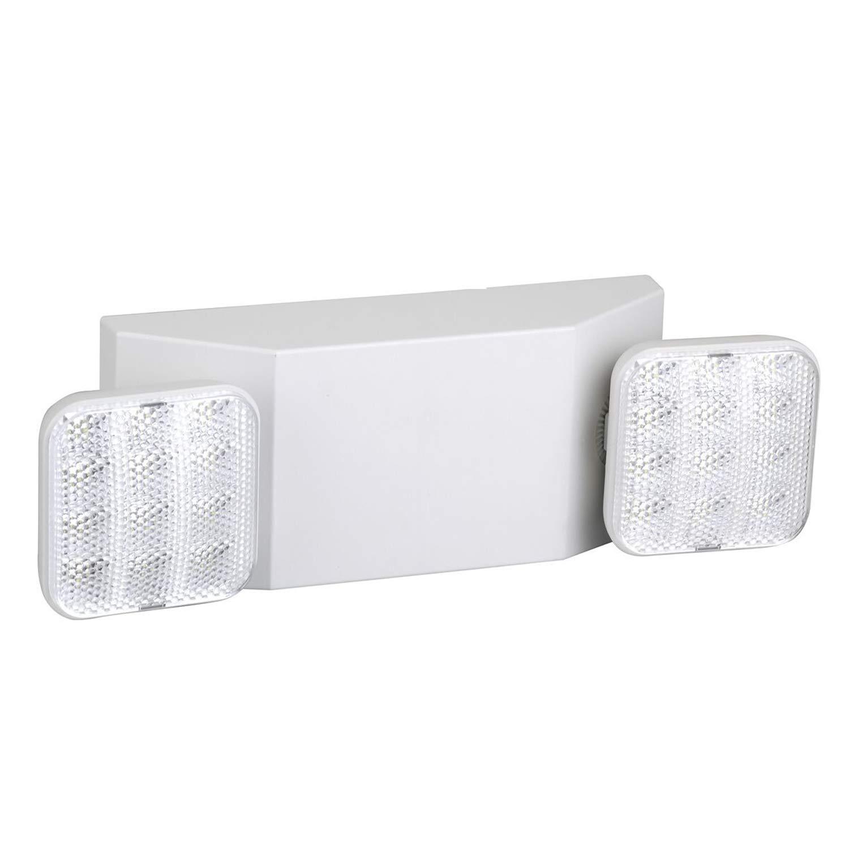 Ainfox Emergency LED Exit Light, Dual Head Hardwired Ultra Bright 120V/277VAC Dual Voltage