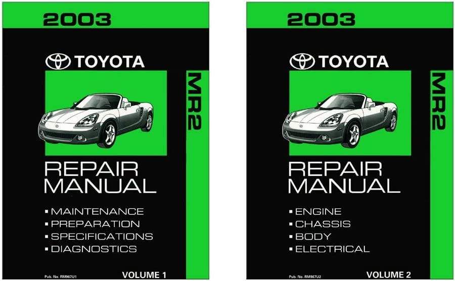 bishko automotive literature 2003 Toyota MR-2 Shop Service Repair Manual Book Engine Drivetrain OEM