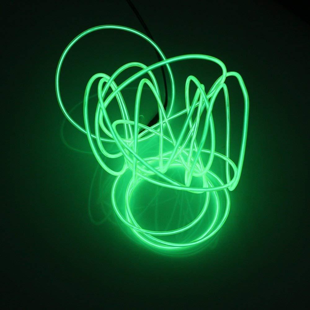 cielo blu Lerway 5m Flessibile EL Wire Neon LED Elettroluminescente Luce Caff/è Ristorante per Party Halloween Bar Club Controllo della Batteria Casa Cucina Giardino Camera Decorazione