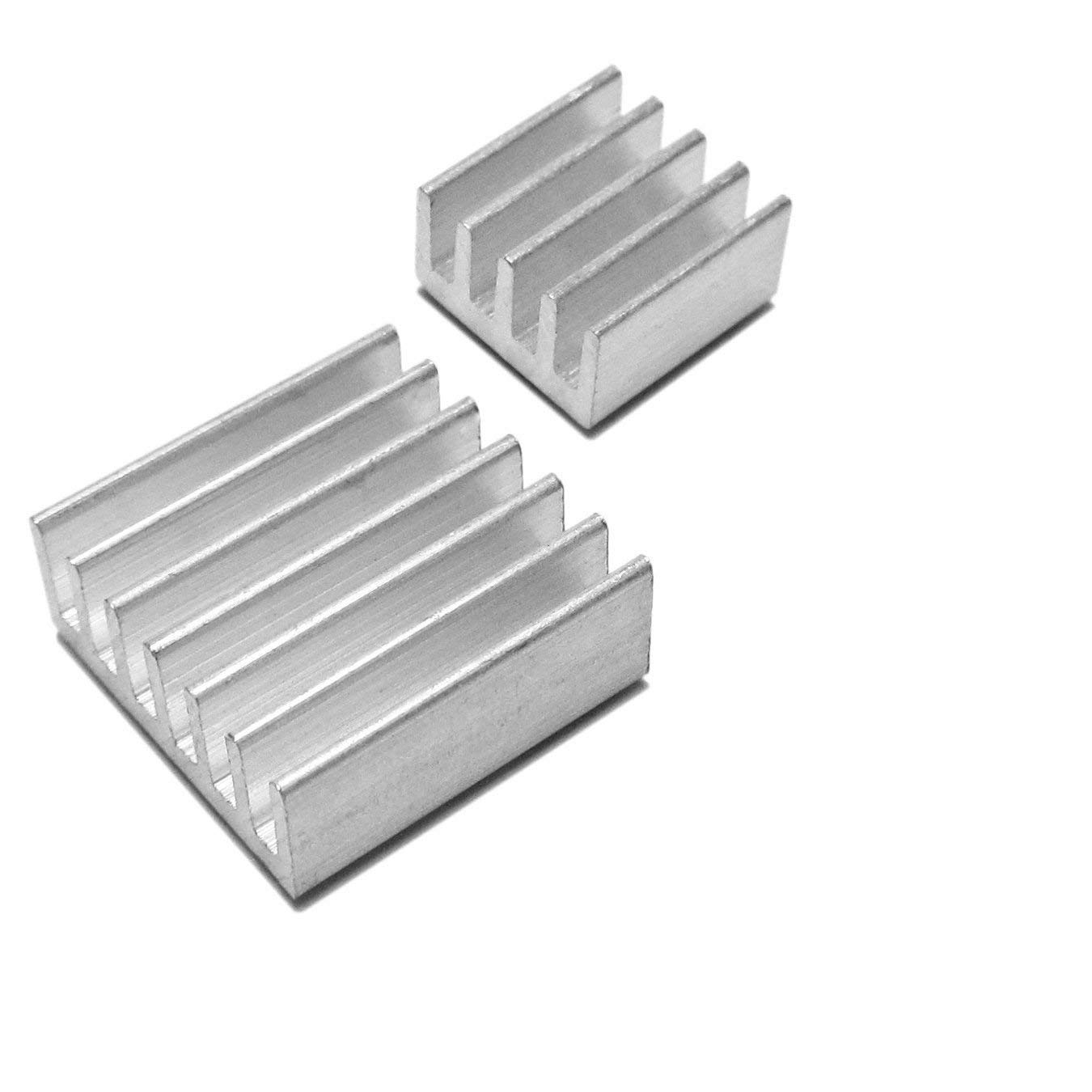 Mega1Comp -Raspberry Pi 3 Model B+ (B Plus), 16GB SD Card Noobs OS pre-Loaded, Aluminum Heat Sink Set - Basic Starter kit