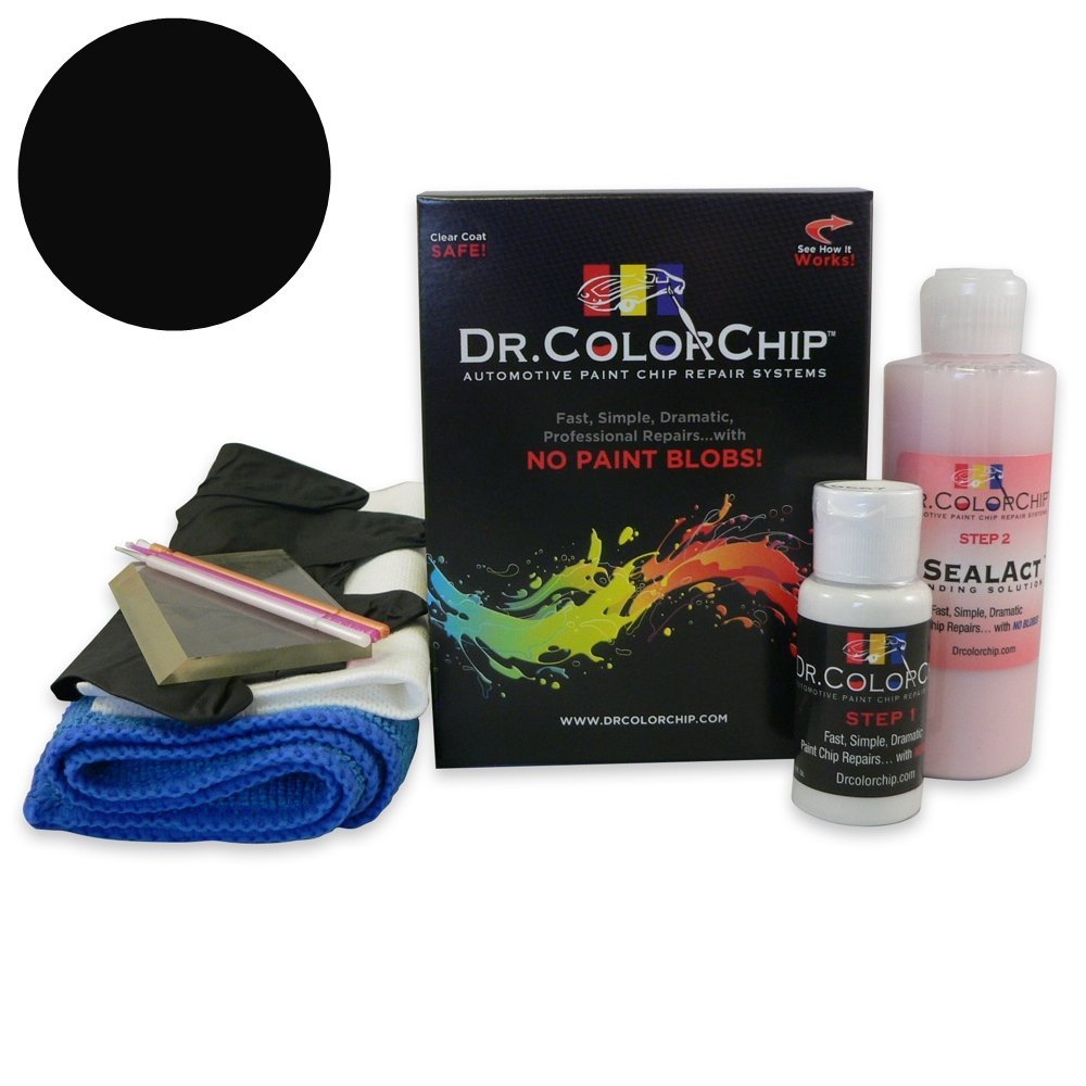 Dr. ColorChip Dodge Charger Automobile Paint - Black Crystal PX8 - Squirt-n-Squeegee Kit