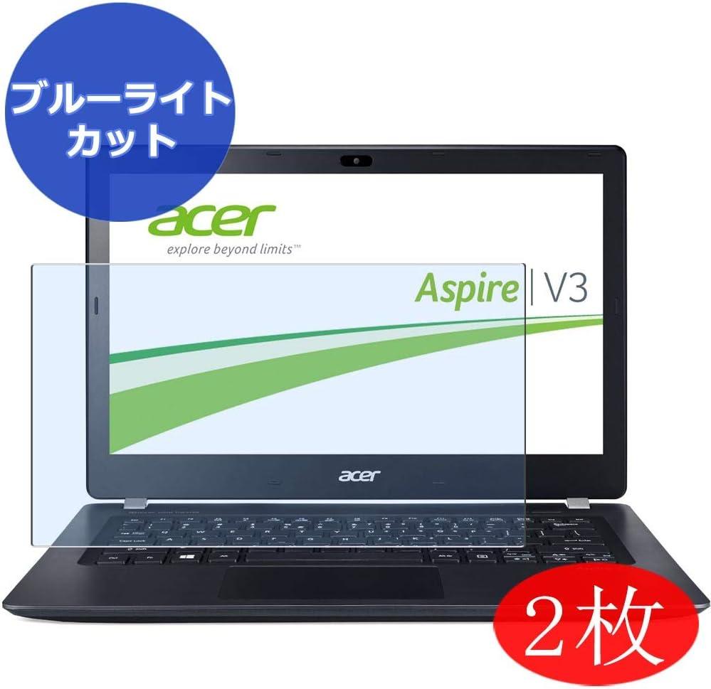 【2 Pack】 Synvy Anti Blue Light Screen Protector for Acer Aspire V3-371 / V3-372 / V3-372T 13.3