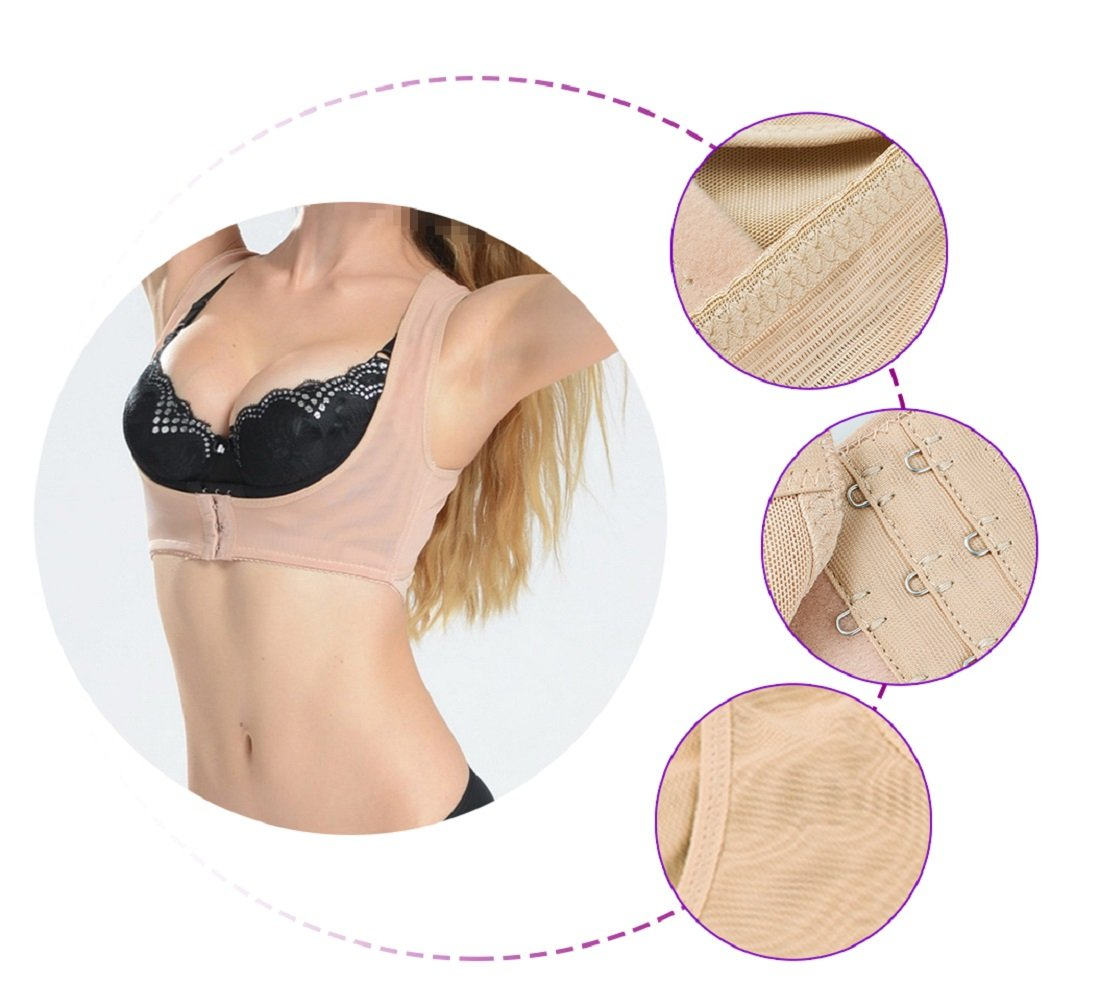 Lolicute Women Hunchback Posture Shape Corrector, Upper Shoulder with Push Up Bra for Improving Bad Posture, Thoracic Kyphosis, Shoulder Alignment, Upper Back Pain Relief
