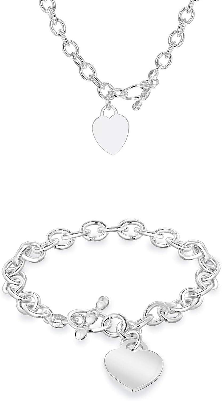 Tuscany Silver 8.40.4027 - Juego de joyas (pulsera y collar) de plata de ley (925/1000)