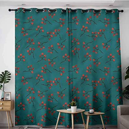 Amazon.com: XXANS Living Room/Bedroom Window Curtains,Teal ...