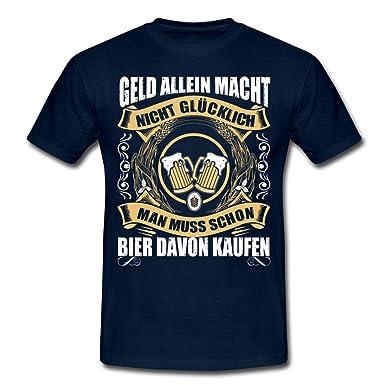 debd87c25ce0f0 Spreadshirt Geld Macht Nicht Glücklich Bier Kaufen Männer T-Shirt   Amazon.de  Bekleidung