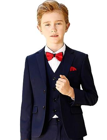 dbe3a569f Amazon.com  ELPA ELPA Boys Suits Slim Fit Formal Dress Suit 6 Piece ...