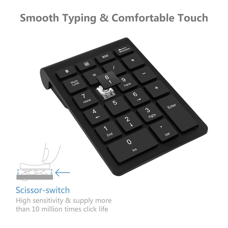 Teclado numérico Bluetooth, Teclado numérico Rytakide 22 Teclas Portable, inalámbrico y Bluetooth Extensiones de tecladopara Data Entry de ...