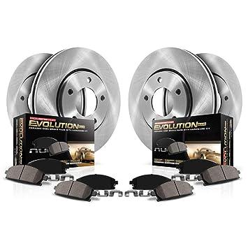 For 2014 Nissan Rogue Front eLine Slotted Brake Rotors Ceramic Brake Pads
