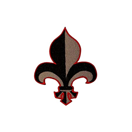 Fleur De Lis French Lily Flower Herald Symbol Emblem Crest Iron On