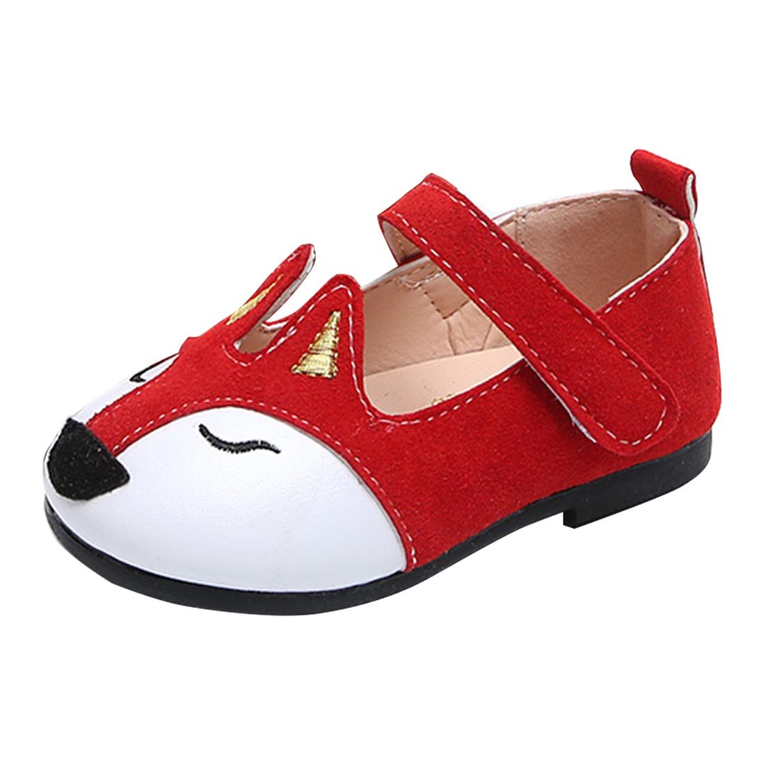 YYF Bebe Fille Ballerine Chaussure Plat Confortable a Poter Bien pour Robe 1-5 Ans