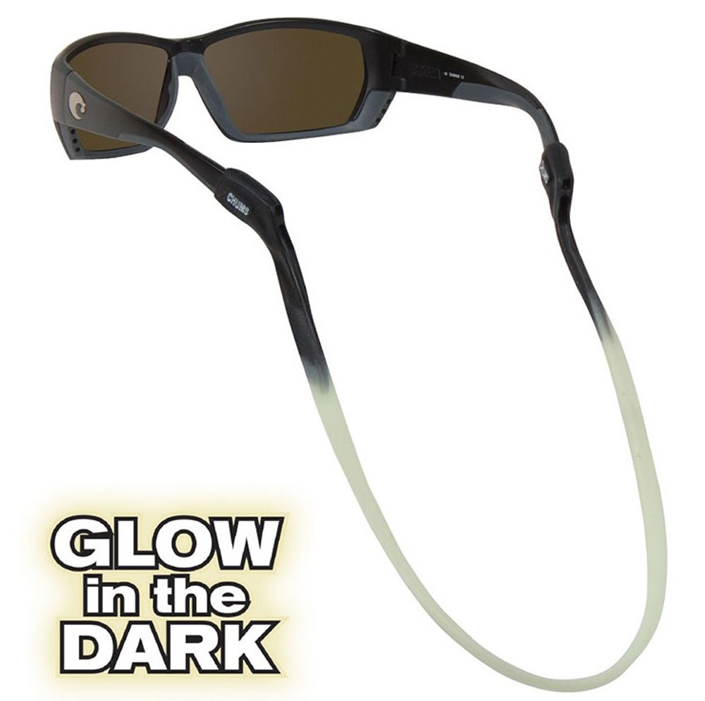 Chums Switchback Silicone Eyewear Retainer in Glow in the Dark Moon Glow