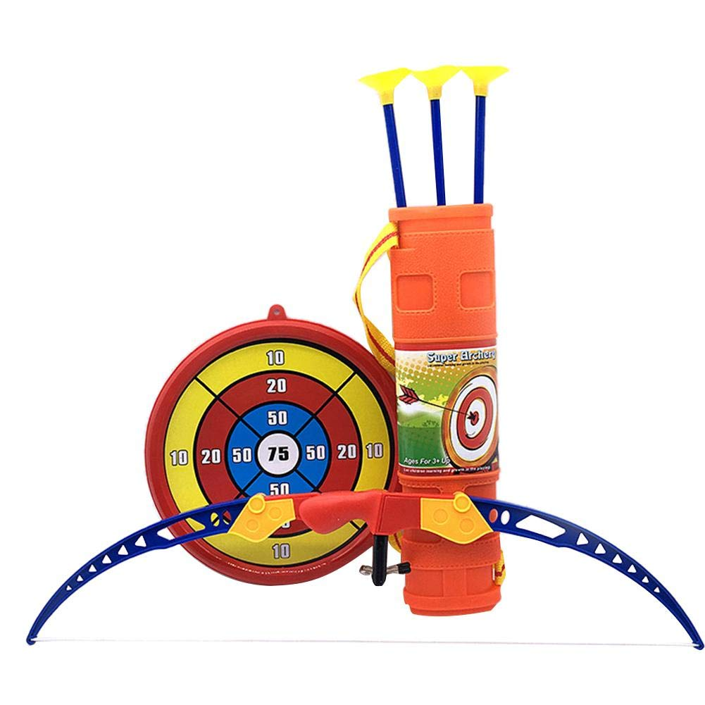 Set de tiro con arco arco y flechas juguete infantil con objetivo, caza Serie juguete tiro con arco arco y flecha Kit con objetivo y accesorios exterior jardí n FUN parte Miss-an