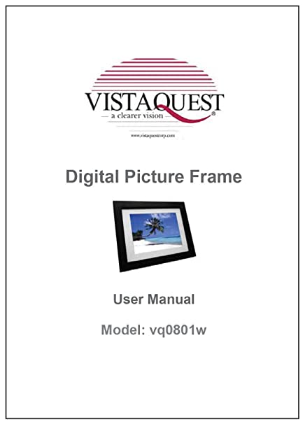amazon com printed user manual for vistaquest digital photo frame rh amazon com Canon Digital Camera Manual Sony Digital Camera Manual