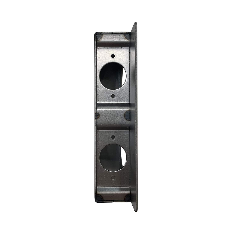 Unpainted OASIS Gate Lock Box Double Hole 6-3//4 x 4-1//4 x 1-1//2 Weldable Steel lockbox for Gate