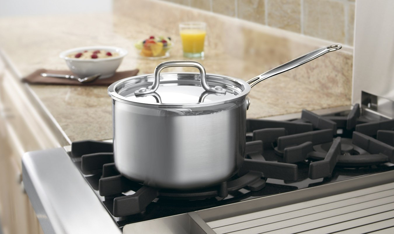 Cuisinart MCP19-18 MultiClad Pro Stainless-Steel 2-Quart Saucepan with Cover