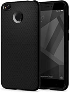 Xiaomi Redmi 4X / Redmi 4 case, Spigen Liquid Air with Geometric Pattern Black