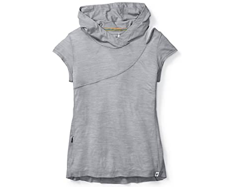 579de1ea SmartWool Women's Everyday Exploration Hooded Tee (Light Gray) X-Small