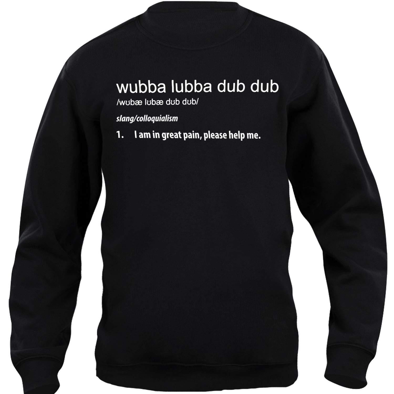 iMage Felpa Girocollo Unisex Rick & Morty Wubba Lubba Dub Dub Dizionario - Famosi