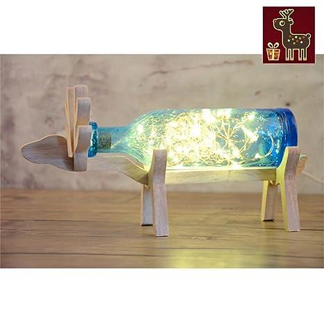 Nordic lámpara de escritorio creativos ciervo Vino Botella ...