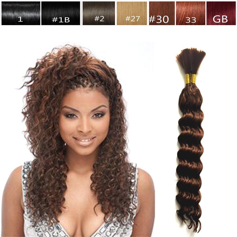 Amazon Hot Selling Deep Bulk Braiding Hair Human Hair Quality