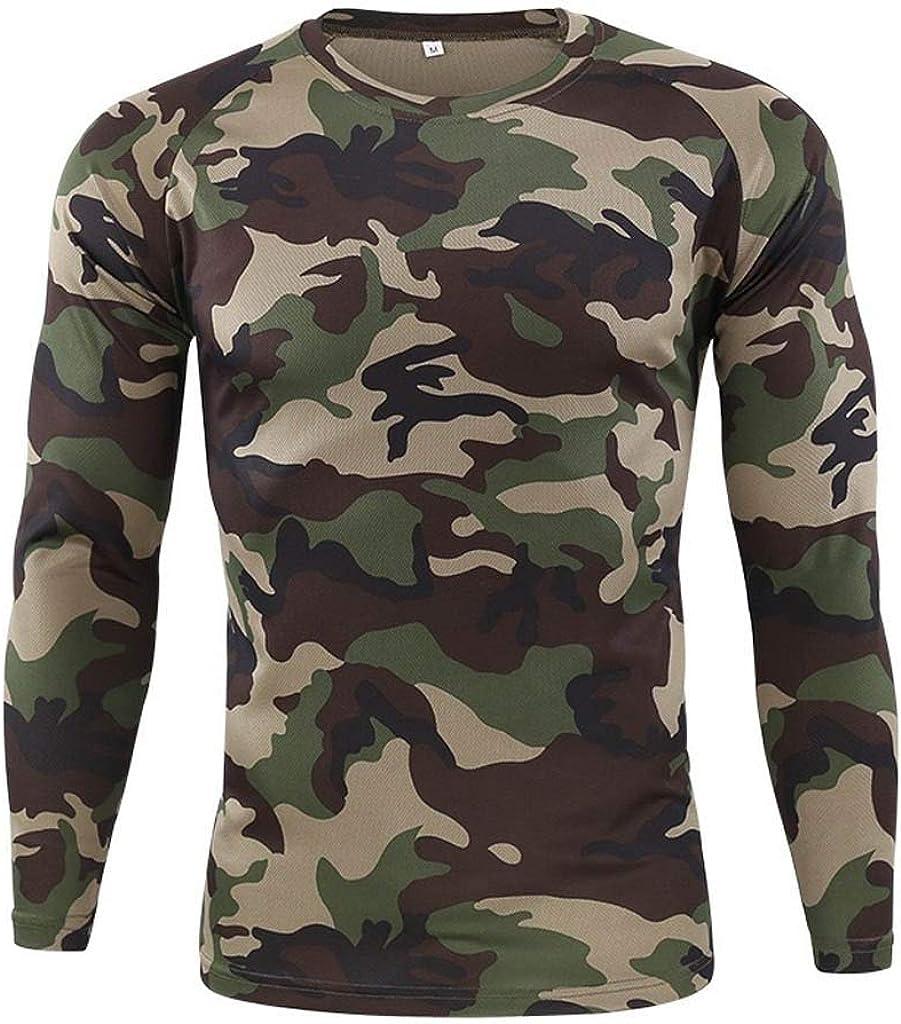 Camiseta Militar Hombre Camisetas Camuflaje Al Aire Libre Ropa Cuello Redondo Secado rápido Top Básico Otoño Invierno de Manga Larga Blusa ¡Venta de liquidación! Yvelands: Amazon.es: Ropa y accesorios