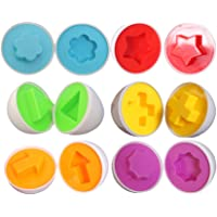 MagiDeal 6Pieces Easter Eggs Gift Funny Baby Toys Gifts Smart Capsule Egg Wisdom Clever Matching Eggs Kids Educational Toys