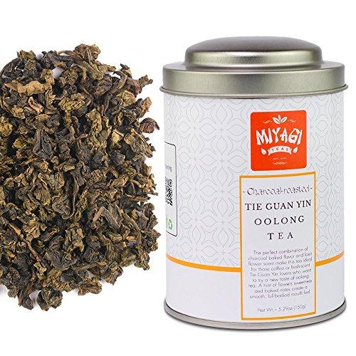 (MIYAGI TEA - Charcoal roasted Anxi Tie Guan Yin - Premium Quality Oolong Tea - 5.29oz (150g) / tin can)
