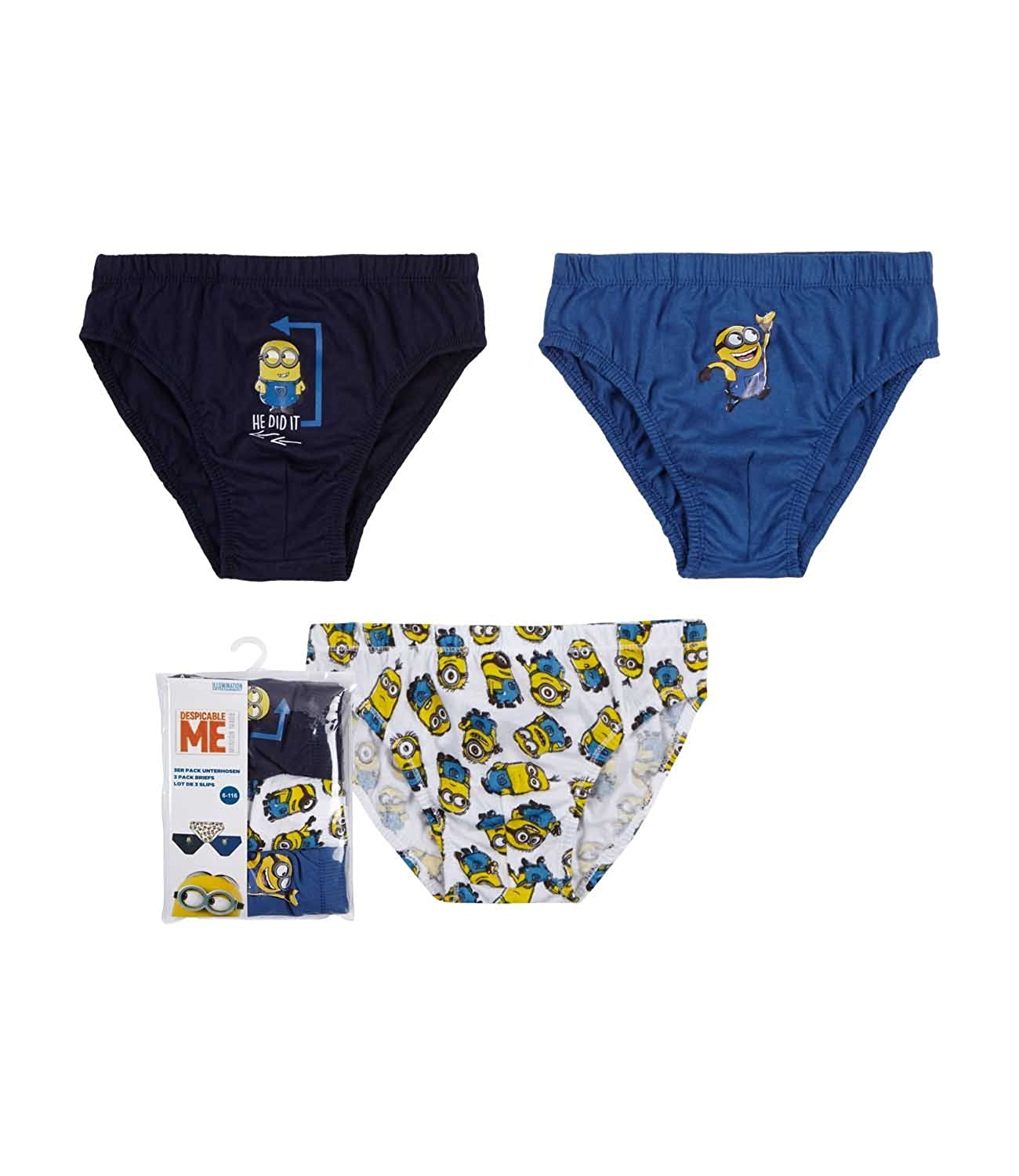 Minions Despicable Me Boys 3 pack brief - navy blue