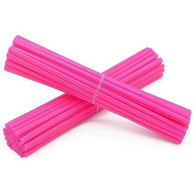 Super Pop Bicycle Spoke Skins Wraps-Best Gift for Kids&Schoolmate&Bike Fans- Colorful Bike Wheel Decoration-72 Pcs(Pink): Automotive